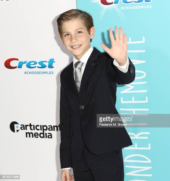 Actor Jacob Tremblay attends the Premiere of Liongate's Wonder at the Regency Village Theatre on November 14 2017 in Westwood California