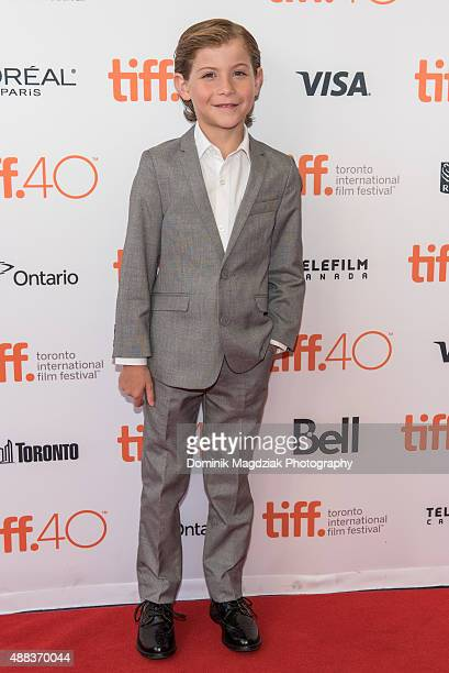 Actor Jacob Tremblay attends the 'Room' premiere during the 2015 Toronto International Film Festival at the Princess of Wales Theatre on September 15...