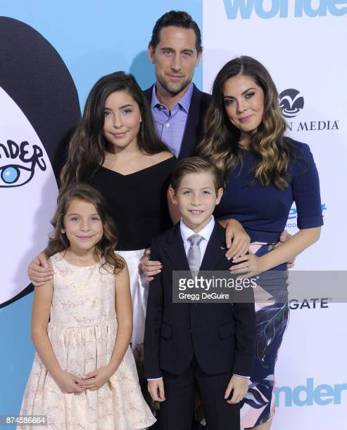 Actor Jacob Tremblay mom Christina Candia Tremblay dad Jason Tremblay sisters Emma Tremblay and Erica Tremblay arrive at the premiere of Lionsgate's...