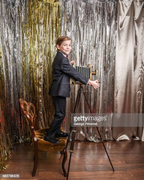 Actor Jacob Tremblay poses at the 2016 Canadian Screen Awards Portrait Studio at the Sony Centre for the Performing Arts on March 13, 2016 in...