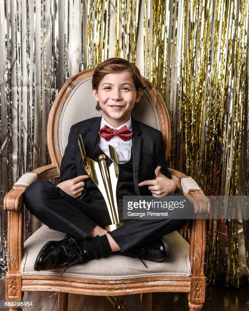 Actor Jacob Tremblay poses at the 2016 Canadian Screen Awards Portrait Studio at the Sony Centre for the Performing Arts on March 13 2016 in Toronto...