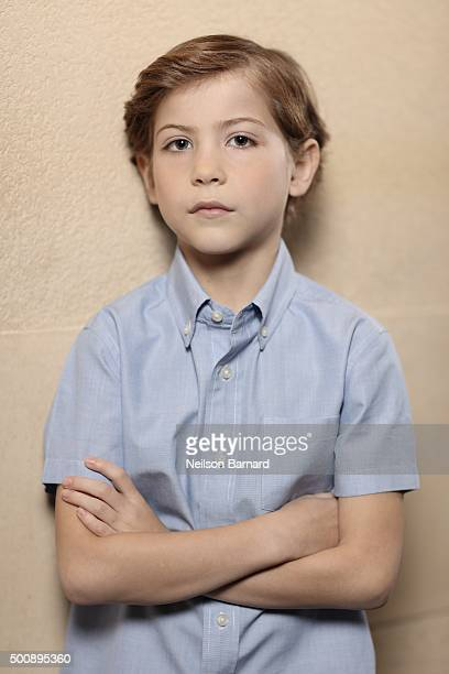 Actor Jacob Tremblay poses during a portrait session on day two of the 12th annual Dubai International Film Festival held at the Madinat Jumeriah...