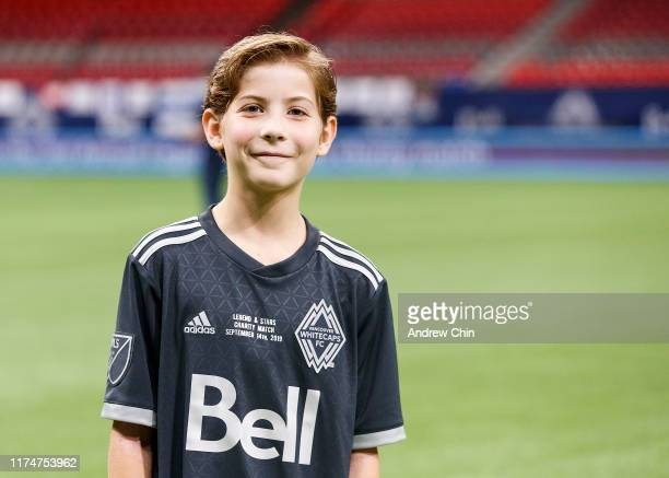 Actor Jacob Tremblay poses for a picture before the Vancouver Whitecaps FC Legends And Stars Charity Soccer Match at BC Place on September 14 2019 in...