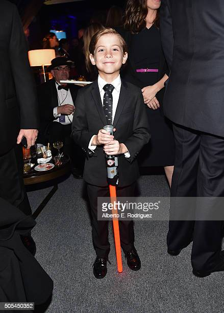 Actor Jacob Tremblay winner of Best Young Actor award attends the after party for the 21st Annual Critics' Choice Awards at Barker Hangar on January...