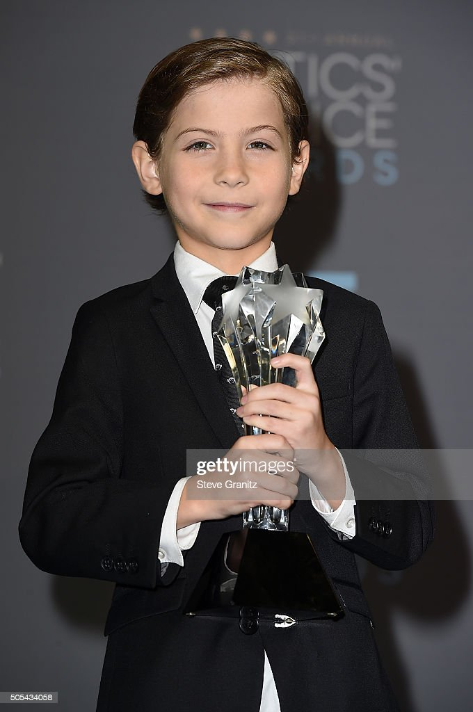 Actor Jacob Tremblay, winner of the award for Best Young Actor/Actress for 'Room,' poses in the press room during the 21st Annual Critics' Choice Awards at Barker Hangar on January 17, 2016 in Santa Monica, California.