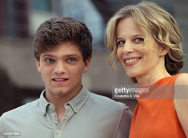 Actor Jacopo Olmo Antinori and actress Sonia Bergamasco attend 'Io e Te' photocall at Visconti Palace Hotel on October 18 2012 in Rome Italy