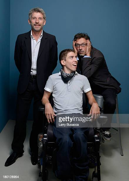 Actor Jacques Gamblin actor Fabien Heraud and director Nils Tavernier of 'The Finishers' pose at the Guess Portrait Studio during 2013 Toronto...