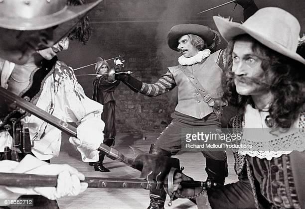Actor Jacques Weber rehearses a sword fight for a 1983 production of Cyrano de Bergerac. The play, directed by Alain Savary and featuring Weber as...