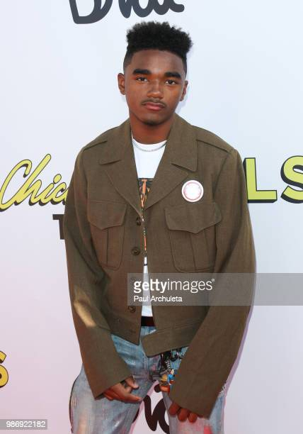 Actor Jaden Martin attends the GenZ Studio Brat's premiere of Chicken Girls at The Ahrya Fine Arts Theater on June 28 2018 in Beverly Hills California