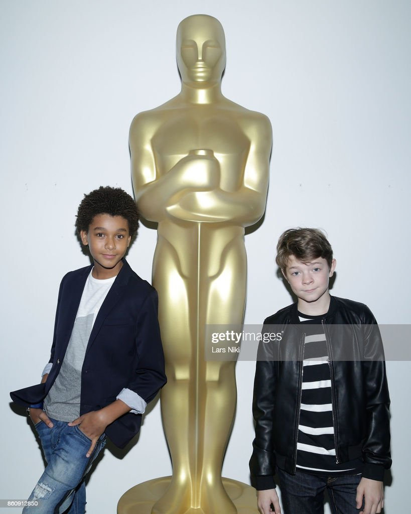Actor Jaden Michael and actor Oakes Fegley attend The Academy of Motion Picture Arts & Sciences Official Academy Screening of Wonderstruck at MOMA on October 11, 2017 in New York City.