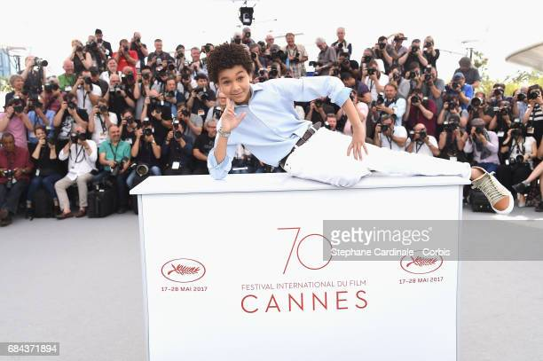 Actor Jaden Michael attends Wonderstruck' Photocall during the 70th annual Cannes Film Festival at Palais des Festivals on May 18 2017 in Cannes...