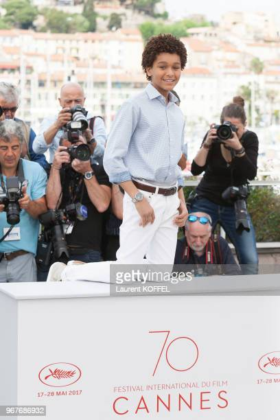 Actor Jaden Michael attends 'Wonderstruck' Photocall during the 70th annual Cannes Film Festival at Palais des Festivals on May 18 2017 in Cannes...
