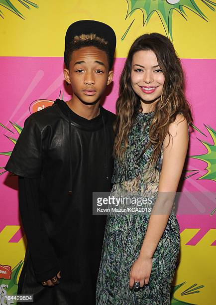 Actor Jaden Smith and actress Miranda Cosgrove attends Nickelodeon's 26th Annual Kids' Choice Awards at USC Galen Center on March 23 2013 in Los...