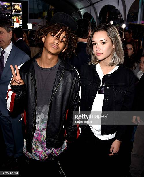 Actor Jaden Smith and Sarah Snyder arrive at the premiere of Universal Pictures' 'Pitch Perfect 2' at the Nokia Theatre LA Live on May 8 2015 in Los...