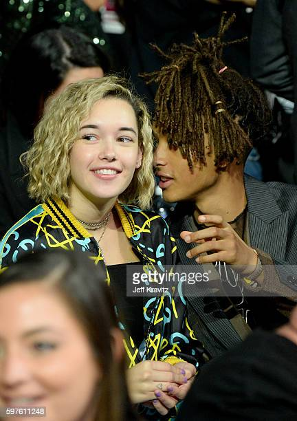 Actor Jaden Smith and Sarah Snyder attend the 2016 MTV Video Music Awards at Madison Square Garden on August 28 2016 in New York City