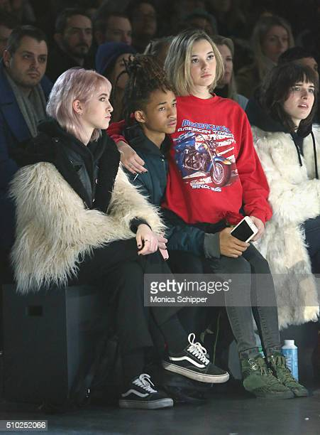 Actor Jaden Smith and Sarah Snyder attend the Hood By Air Fall 2016 fashion show during New York Fashion Week The Shows at The Arc Skylight at...