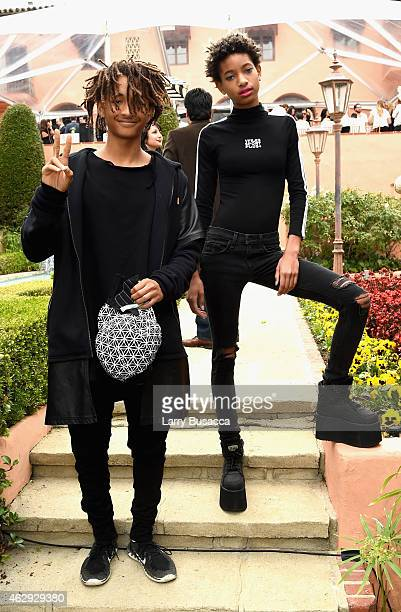Actor Jaden Smith and singer Willow Smith attend Roc Nation and Three Six Zero PreGRAMMY Brunch 2015 at Private Residence on February 7 2015 in...