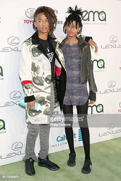 Actor Jaden Smith and singer Willow Smith attend the Environmental Media Association 26th Annual EMA Awards Presented By Toyota Lexus And Calvert at...