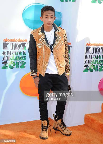 Actor Jaden Smith arrives at the 2012 Nickelodeon's Kids' Choice Awards held at the Galen Center on March 31 2012 in Los Angeles California