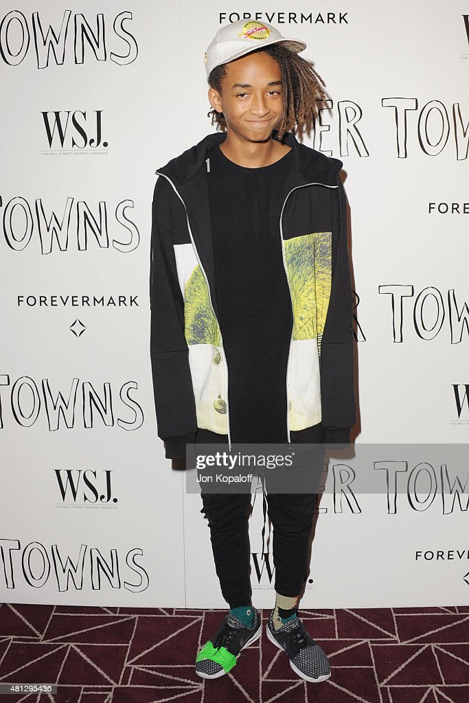Actor Jaden Smith arrives at the Screening Of 20th Century Fox's 'Paper Towns' at The London West Hollywood on July 18, 2015 in West Hollywood, California.