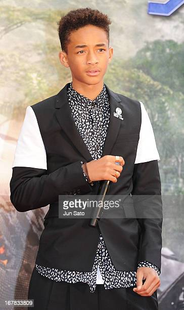 Actor Jaden Smith attends 'After Earth' premier at Skytree arena on May 1 2013 in Tokyo Japan The film will open on June 21 in Japan