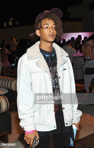 Actor Jaden Smith attends Boohoo X Jordyn Woods Launch Event at NeueHouse Hollywood on August 31 2016 in Los Angeles California