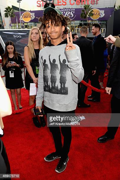 Actor Jaden Smith attends the 2014 American Music Awards at Nokia Theatre LA Live on November 23 2014 in Los Angeles California