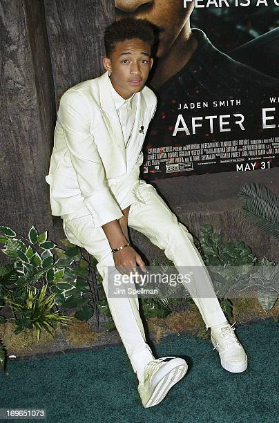 Actor Jaden Smith attends the 'After Earth' premiere at the Ziegfeld Theater on May 29 2013 in New York City