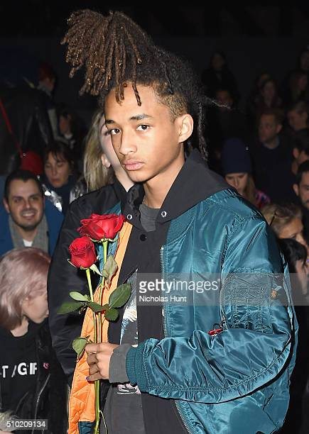 Actor Jaden Smith attends the Hood By Air Fall 2016 fashion show during New York Fashion Week The Shows at The Arc Skylight at Moynihan Station on...