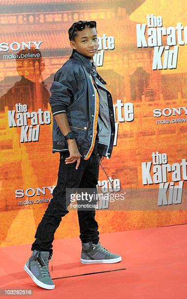 Actor Jaden Smith attends 'The Karate Kid' photocall at Proyecciones cinema on July 21 2010 in Madrid Spain
