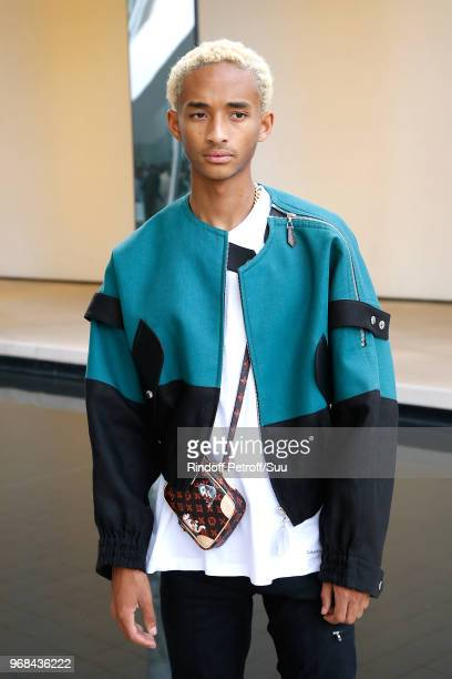 Actor Jaden Smith attends the LVMH Prize 2018 Edition at Fondation Louis Vuitton on June 6 2018 in Paris France