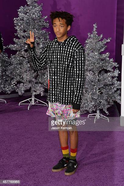 Actor Jaden Smith attends the premiere of Open Road Films' 'Justin Bieber's Believe' at Regal Cinemas LA Live on December 18 2013 in Los Angeles...