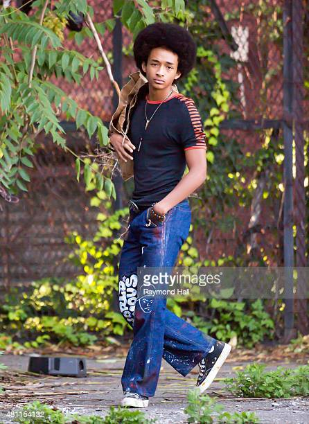 Actor Jaden Smith is seen on the set of 'The Get Down' in Brooklyn on July 17 2015 in New York City