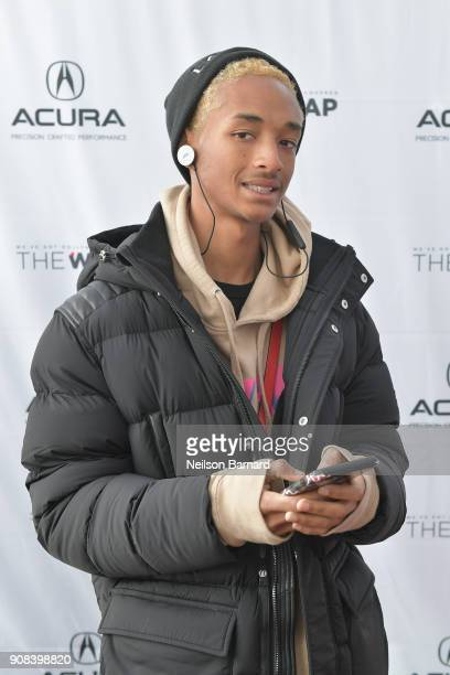 Actor Jaden Smith of 'Skate Kitchen' attends the Acura Studio at Sundance Film Festival 2018 on January 21 2018 in Park City Utah