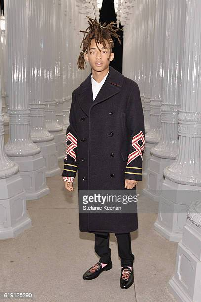 Actor Jaden Smith wearing Gucci attends the 2016 LACMA Art Film Gala Honoring Robert Irwin and Kathryn Bigelow Presented By Gucci at LACMA on October...