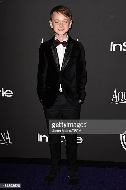 Actor Jaeden Lieberher attends the 2015 InStyle And Warner Bros 72nd Annual Golden Globe Awards PostParty at The Beverly Hilton Hotel on January 11...