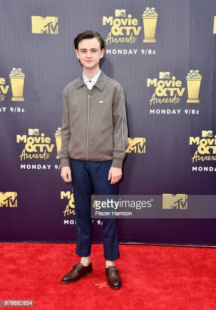 Actor Jaeden Lieberher attends the 2018 MTV Movie And TV Awards at Barker Hangar on June 16 2018 in Santa Monica California