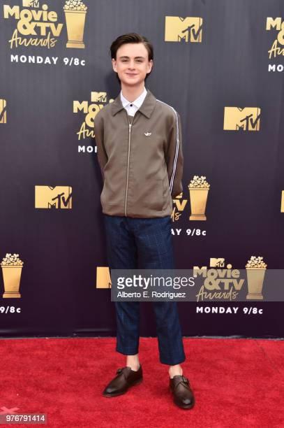 Actor Jaeden Lieberher attends the 2018 MTV Movie And TV Awards at Barker Hangar on June 16 2018 in Santa Monica California