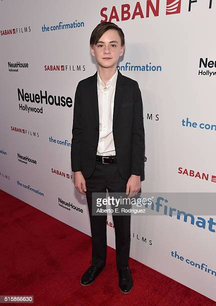 Actor Jaeden Lieberher attends the premiere of Saban Films' 'The Confirmation' on March 15 2016 in Los Angeles California