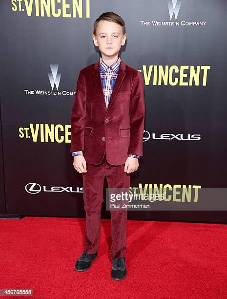 Actor Jaeden Lieberher attends the 'St. Vincent' New York Premiere at Ziegfeld Theater on October 6, 2014 in New York City.