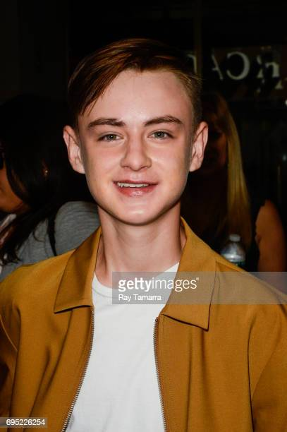 Actor Jaeden Lieberher leaves the 'Today Show' taping at the NBC Rockefeller Center Studios on June 12 2017 in New York City