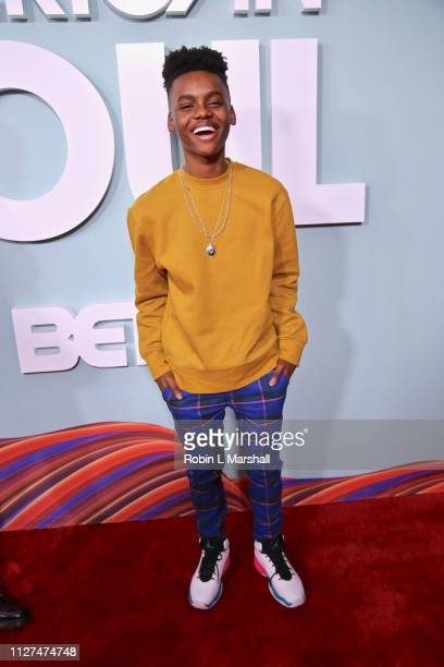 Actor Jahi Winston attends BET's 'American Soul' Red Carpet at Wolf Theatre on February 04 2019 in North Hollywood California