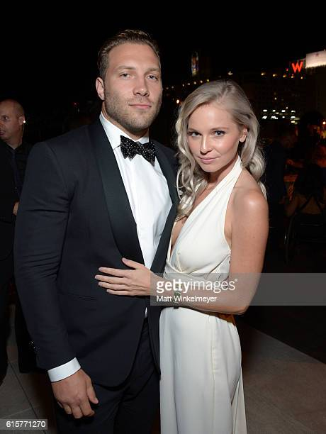 Actor Jai Courtney and Mecki Dent attend Australians In Film's 5th Annual Awards Gala after party at NeueHouse Hollywood on October 19 2016 in Los...