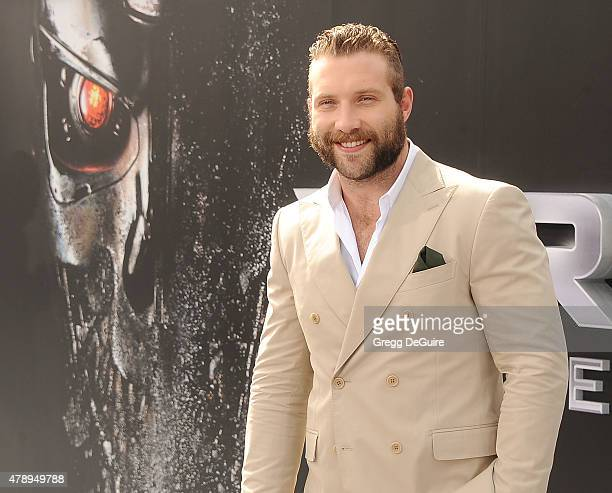 Actor Jai Courtney arrives at the Los Angeles premiere of 'Terminator Genisys' at Dolby Theatre on June 28 2015 in Hollywood California