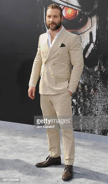 Actor Jai Courtney arrives at the Los Angeles Premiere Terminator Genisys at Dolby Theatre on June 28 2015 in Hollywood California