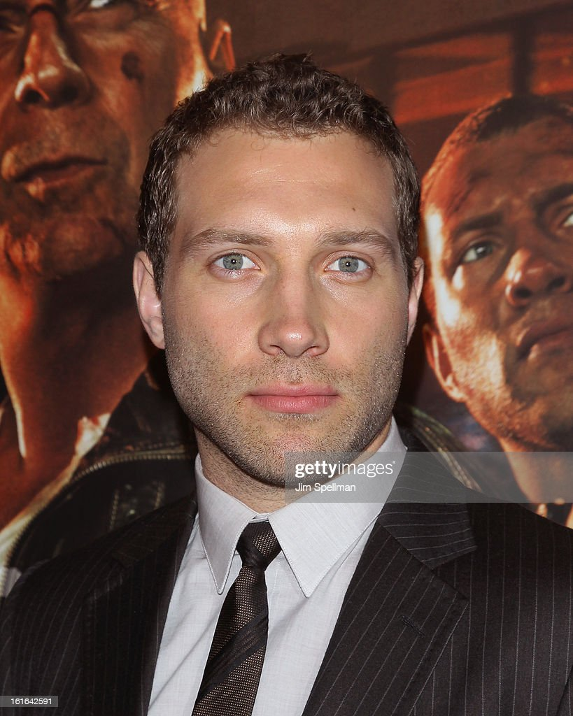 Actor Jai Courtney attends the 'A Good Day To Die Hard' Fan Celebration at AMC Empire on February 13, 2013 in New York City.