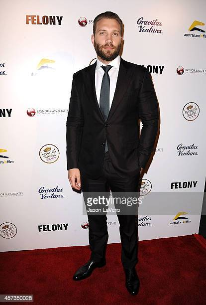 Actor Jai Courtney attends the premiere of 'Felony' at Harmony Gold Theatre on October 16 2014 in Los Angeles California
