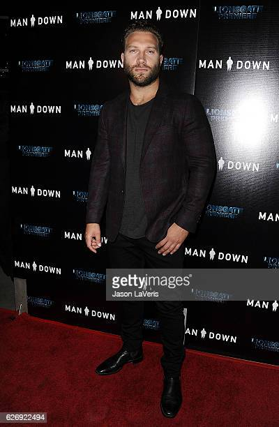 Actor Jai Courtney attends the premiere of 'Man Down' at ArcLight Hollywood on November 30 2016 in Hollywood California