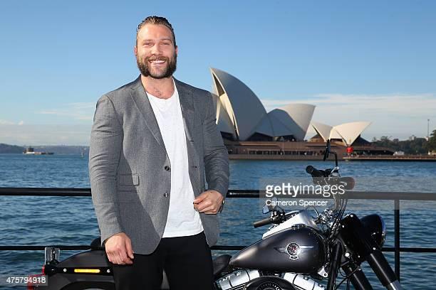 Actor Jai Courtney poses during a 'Terminator Genisys' photo call at the Park Hyatt Sydney on June 4, 2015 in Sydney, Australia.