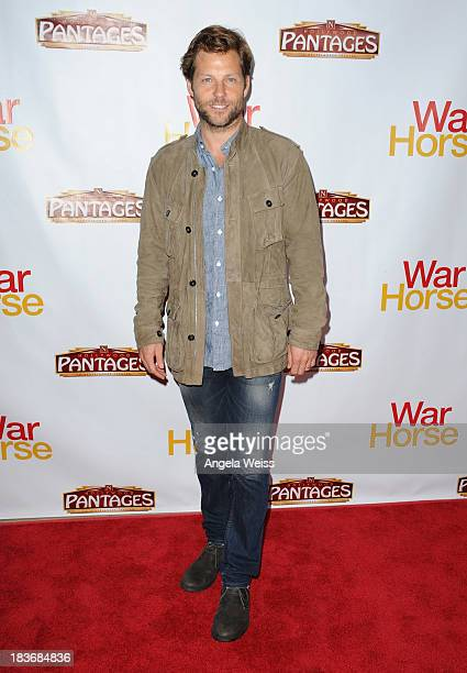 Actor Jaime Bamber arrrives at the opening night for 'War Horse' at the Pantages Theatre on October 8 2013 in Hollywood California